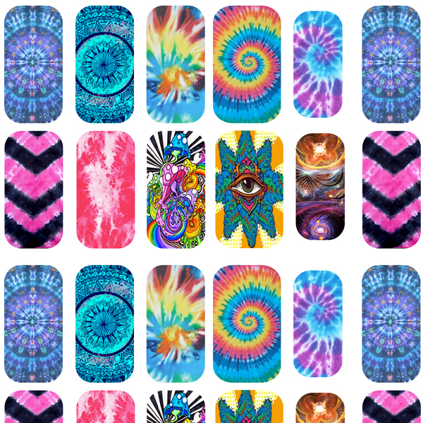 Trippy Hippy Nail Decals Apeshit Clothing